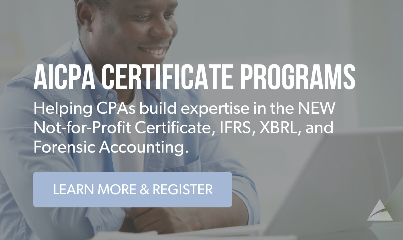 AICPA Certificate Programs