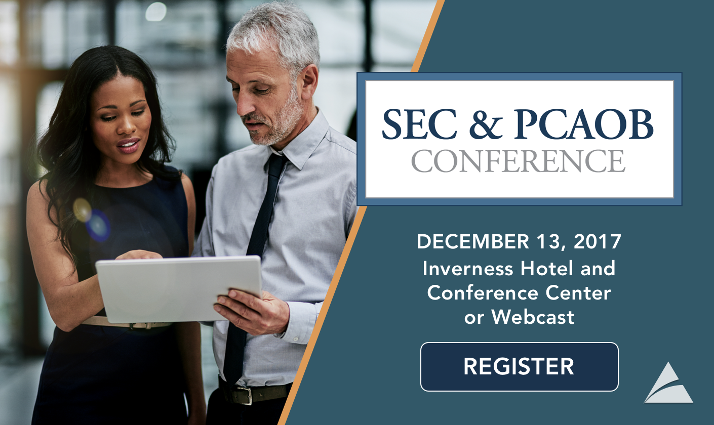 2017 SEC and PCAOB Conference