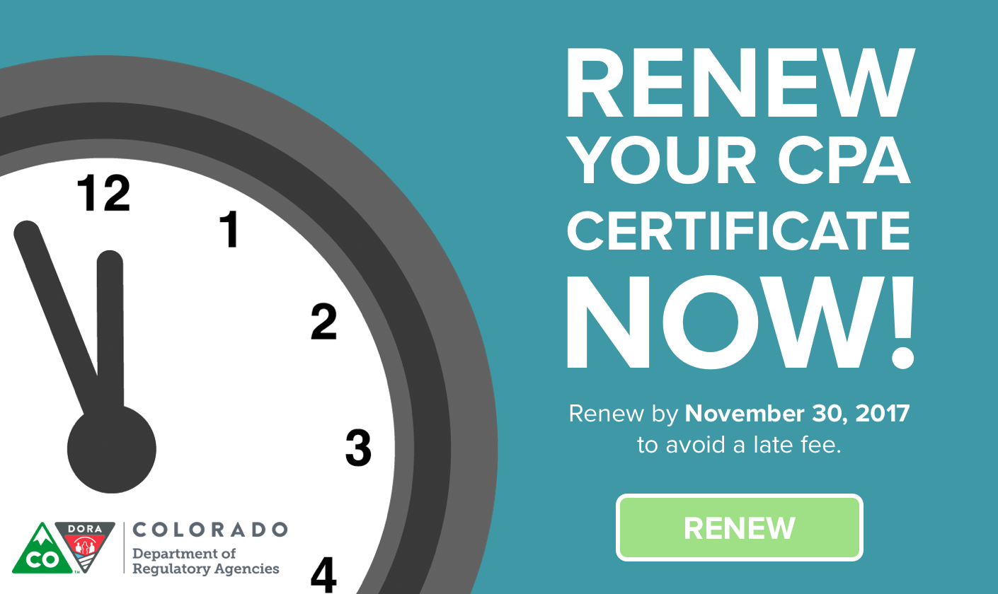Renew your CPA certificate